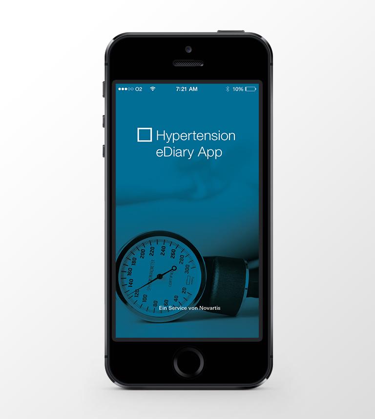 Hypertension eDiary App auf dem Iphone