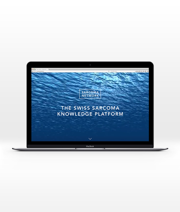 Sarcoma Network Website auf MacBook